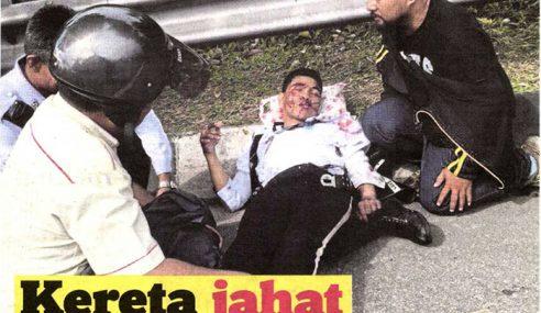 Remaja Suspek Langgar Anggota Polis Trafik Ditahan