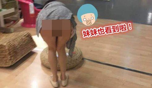 Wanita 'Belanja' Bontot Pada Pengunjung Ikea