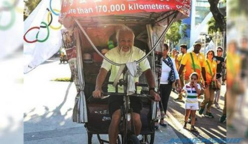 Kisah Lelaki Tua Keliling Dunia Naiki Beca Demi Olimpik