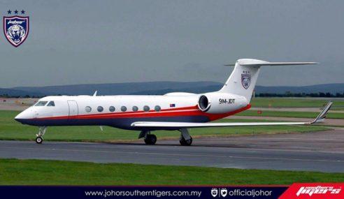 Sultan Johor Kurnia Kapal Terbang Untuk Pasukan JDT