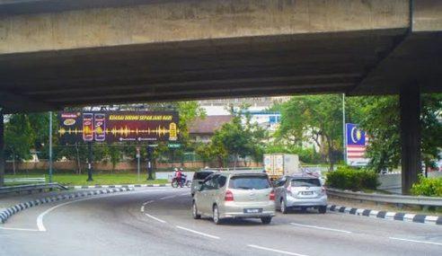 DBKL Tutup Jalan Tengah Di Bulatan Dato' Onn