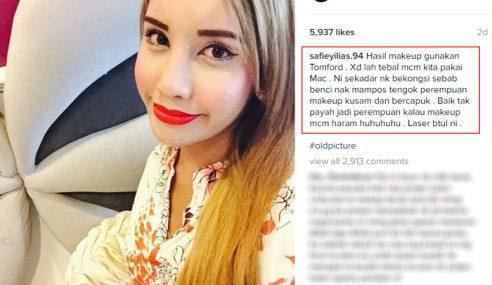 Kutuk Make Up Bercapuk, Safiey Ilias Diselar Netizen
