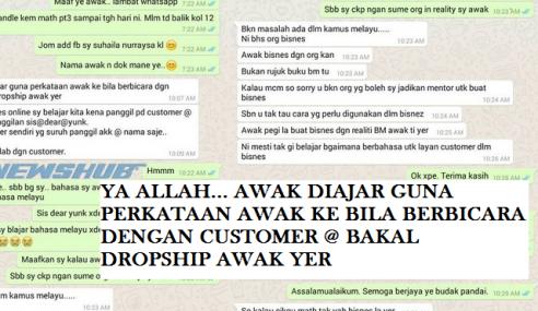 Tak Panggil Customer 'Yunk' Peniaga Online Kena Sekolah