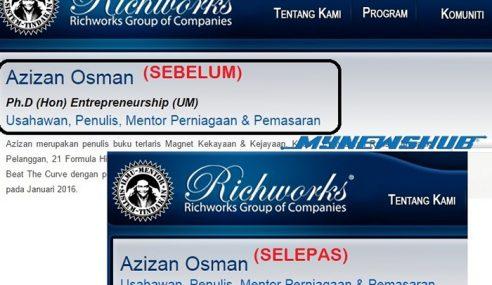 Azizan 'Hapuskan' Kelulusan Dalam Profil Syarikat