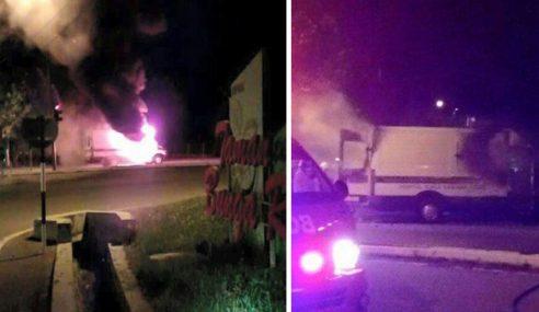 Ambulans Tiba-Tiba Terbakar Di Kuala Kangsar