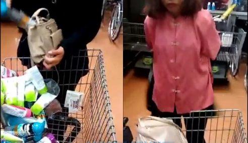 Wanita Lanjut Usia Dicekup Mencuri Di Pasar Raya