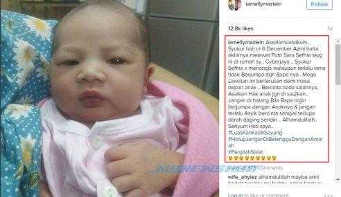 Elly Mazlein Luah Rasa Syukur Bekas Suami Lawat Anak