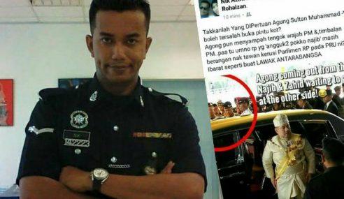 Anggota Polis Guna Facebook Hina PM & TPM
