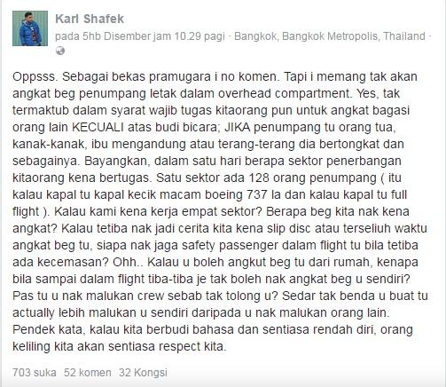 Kes Angkat Beg, Karl Shafek Tegur 'Sinis' Fathia