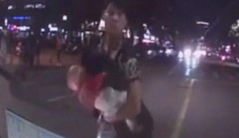 Lompat Depan Kereta Bersama Bayi Kerana Marahkan Isteri