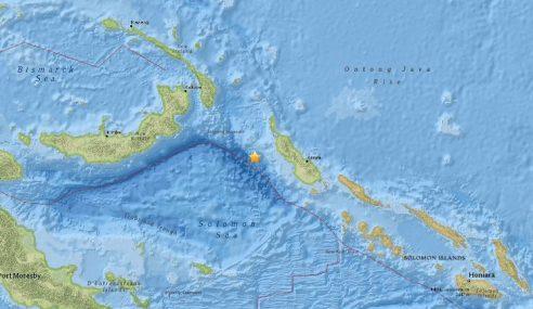 Gempa Kuat 7.9 Skala Ritcher Landa New Ireland, Papua