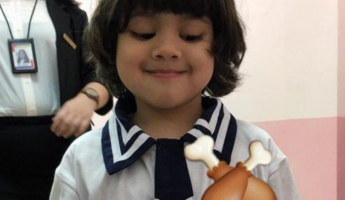 Comelnya… Anak Tomok Yang Cute Dah Masuk Sekolah!