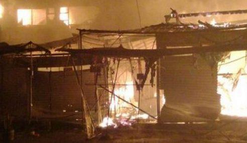 8 Kedai Di Kea Farm Terbakar, Rugi Setengah Juta Ringgit