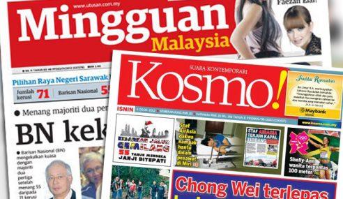 Cuma 2 Aje Di Pasaran, Tanda Jualan Akhbar Tenat?
