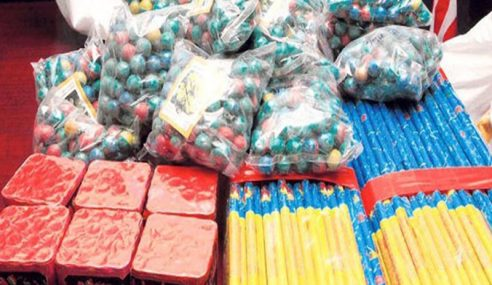 Polis Rampas 96 Kotak Mercun Bernilai RM30,000