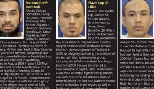 Militan Malaysia Tidak Mungkin Tinggalkan Guantanamo