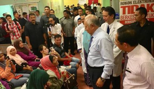 Najib Buat Lawatan Mengejut Ke Hospital Serdang