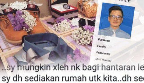 Pensyarah Tawar Hantaran RM500 Untuk Bakal Isteri