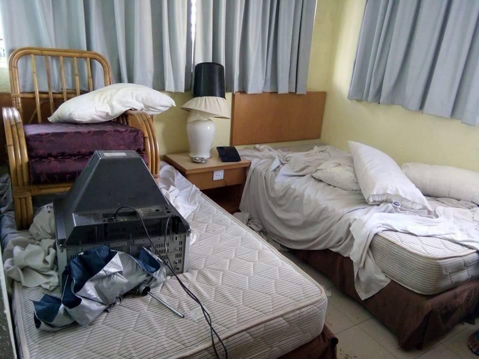 Bilik Hotel Jahanam Dirosak Pelanggan 'Neraka'