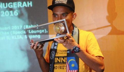 Anugerah Puskas: Faiz Raih Insentif Berjumlah RM150,000