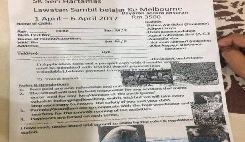Mewah, Lawatan Sekolah Sambil Belajar Ke Melbourne