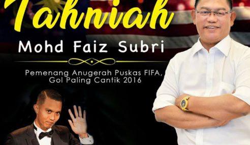 Poster Ucapan Tahniah Noh Omar Untuk Faiz Dikecam