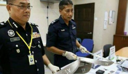 Polis Ipoh Berkas Empat Suspek Kes Samun