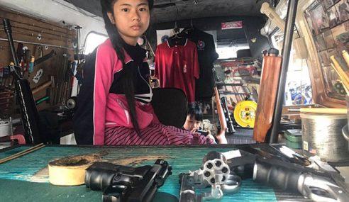 Gadis 12 Tahun Lerai, Pasang Senjata Api Dalam 10 Minit