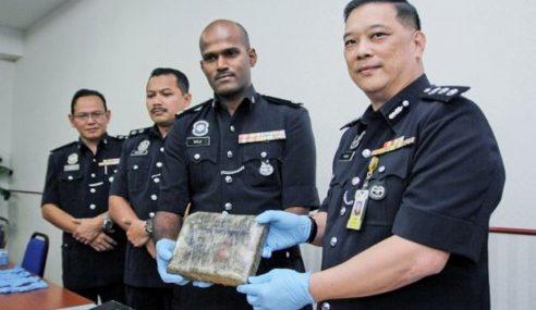 Polis Tahan 3 Lelaki, Rampas Dua Kilo Ganja