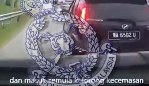 Halang Ambulans: Pemandu Beri Alasan Tidak Perasan