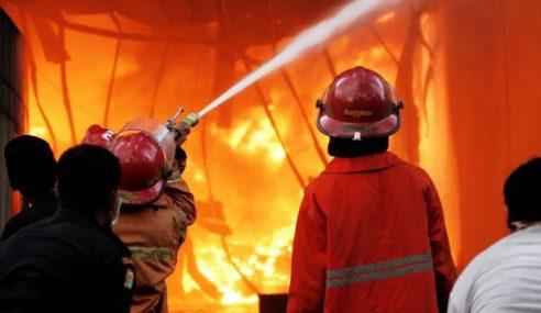 10 Rumah, 10 Kenderaan Musnah Terbakar