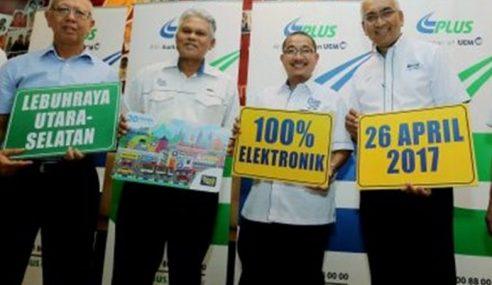 PLUS: Kutipan Tol Elektrik Sepenuhnya 26 April