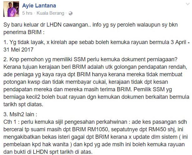 BR1M & SSM: Ini Penjelasan Yang Perlu Diketahui