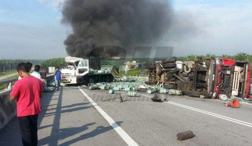 Badan Pemandu Kontena Putus 2, Kemalangan Di SKVE