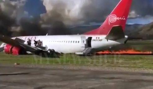Pesawat Terbakar: 141 Penumpang Nyaris Maut