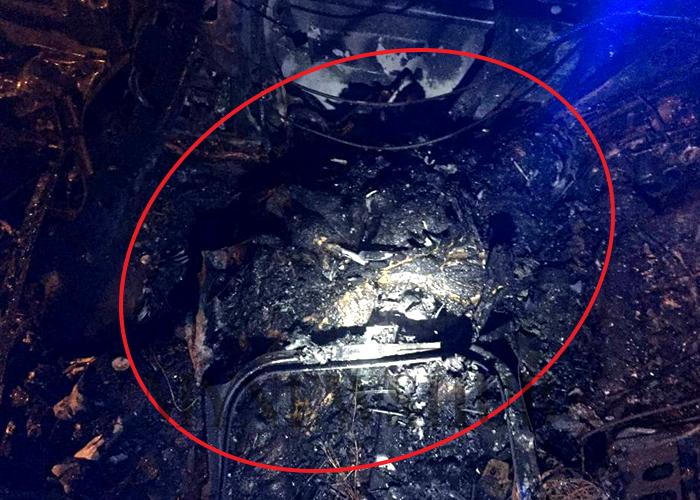 Mayat Tanpa Identiti Rentung Di Tempat Duduk Belakang Kereta Terbakar