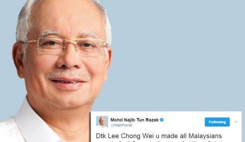 Chong Wei, Kamu Buat Semua Rakyat Malaysia Berbangga