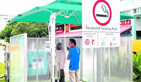 Lebih 40 Tempat Larangan Merokok Di Singapura