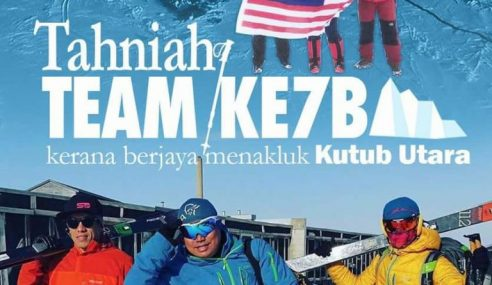 Misi KE7B Berjaya Tawan Kutub Utara Lebih Awal
