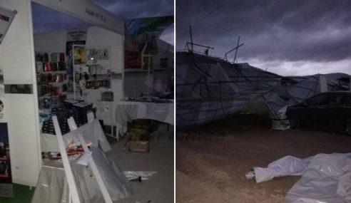 Kejadian Ribut Di Kompleks PAS Kedah Ujian Allah SWT
