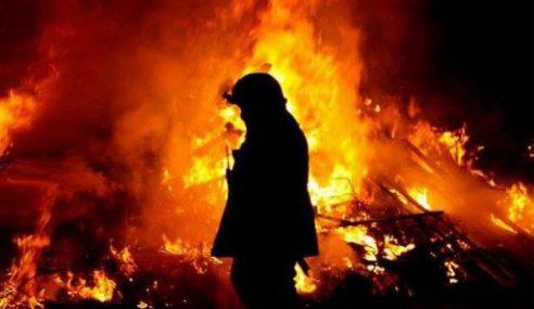 Lelaki Rentung, Seorang Lagi Melecur 95%  Kebakaran Di Mount Austin