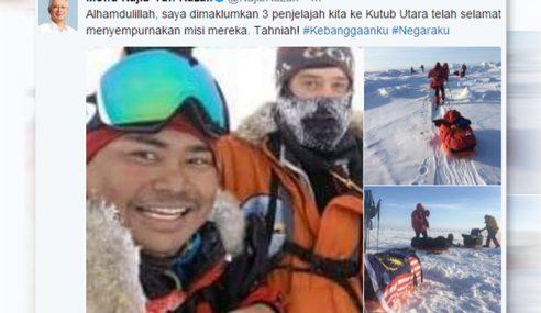 PM Ucap Tahniah 3 Penjelajah Ke Kutub Utara