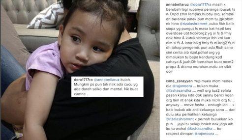 Netizen Biadap Lagakan Fasha Dengan Bekas Suami
