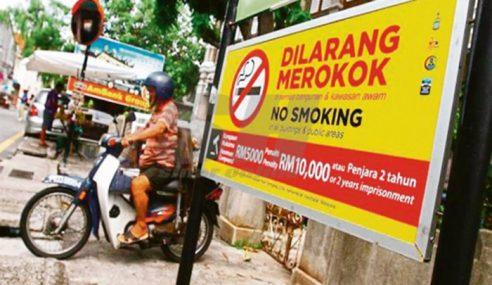Lebih RM90,000 Denda Dikenakan Kepada Perokok