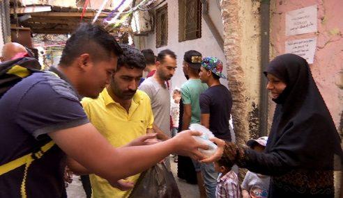 Rohingya Dan Palestin Terima Bubur Lambuk