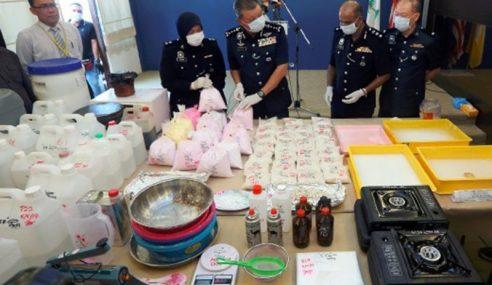Polis P.Pinang Bongkar Makmal Dadah RM6.8 Juta