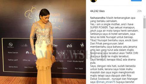 Kecoh IG Fasha Luah Dihalau Majlis Fesyen?