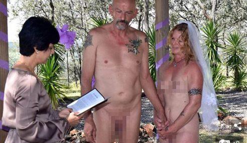 Pasangan Warga Emas Nikah Tanpa Seurat Benang