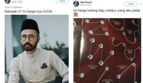 Wak Doyok Dikecam 'Tayang' Butang Baju RM33k!