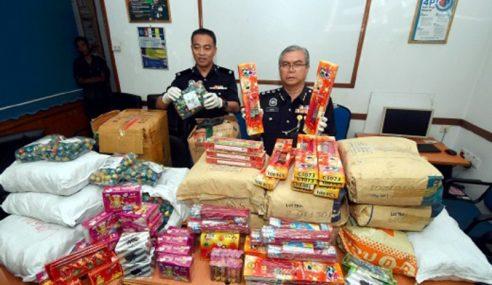 4 Ditahan, Mercun Bernilai RM40,000 Dirampas